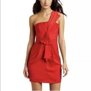 Bcbgmaxazria Palais one shoulder cocktail dress